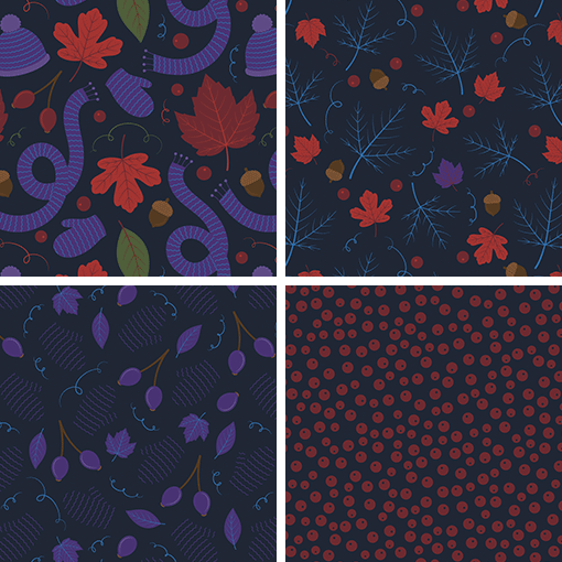 Pattern Design Collection: Playful Fall Dance